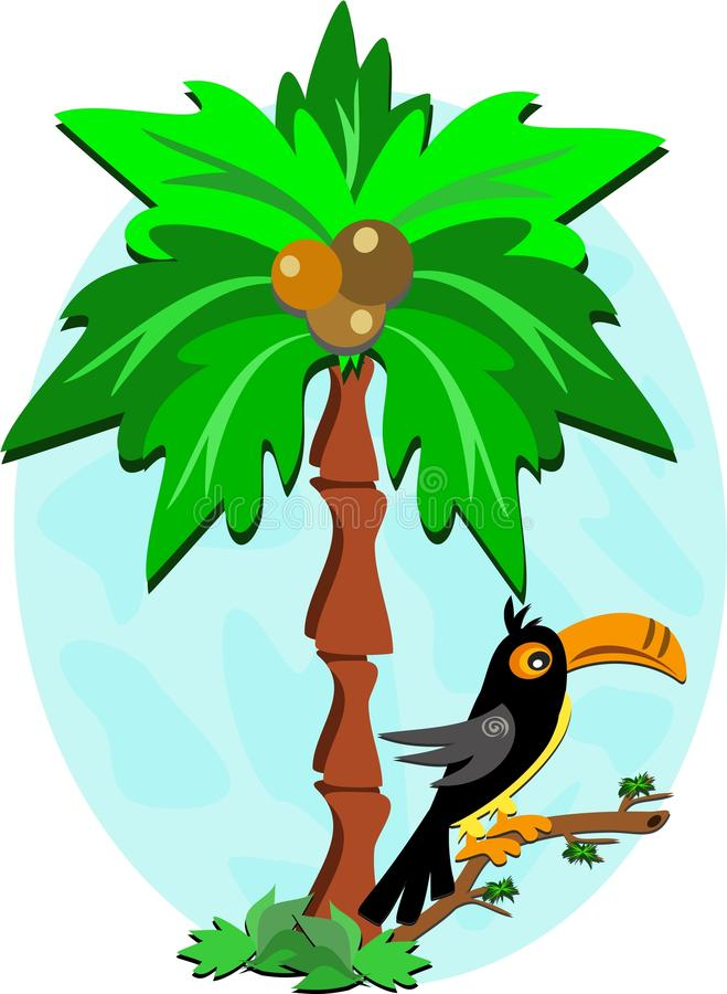Download Toucan and Palm Tree stock vector. Illustration of vector - 16996438