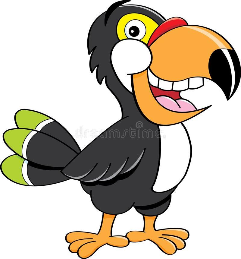 toucan tecknad film royaltyfri illustrationer
