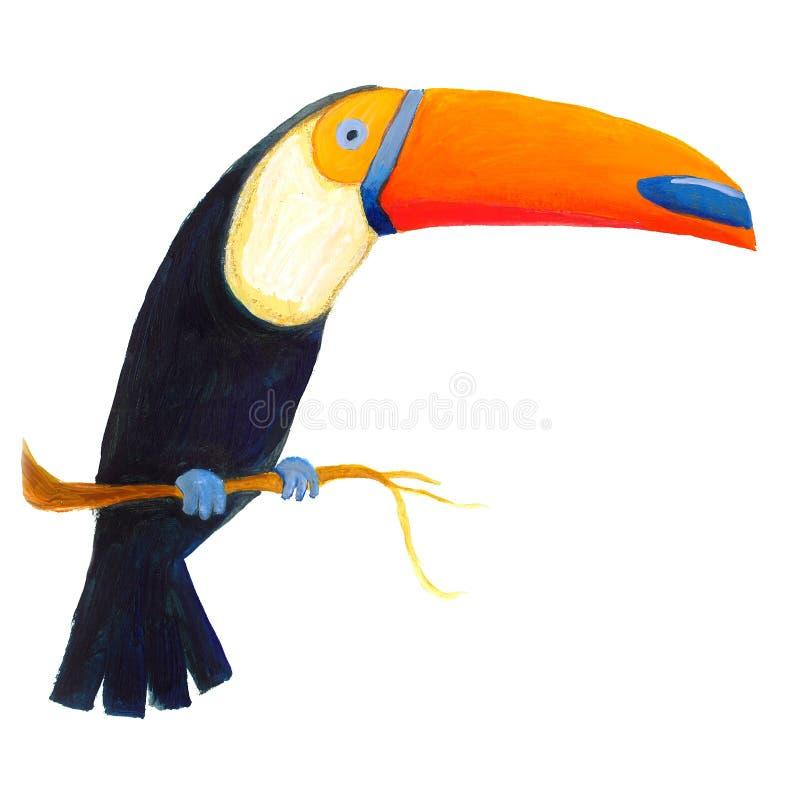 Toucan variopinto illustrazione vettoriale