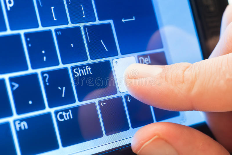 Download Touch arrow on screen stock image. Image of keyboard - 19857979