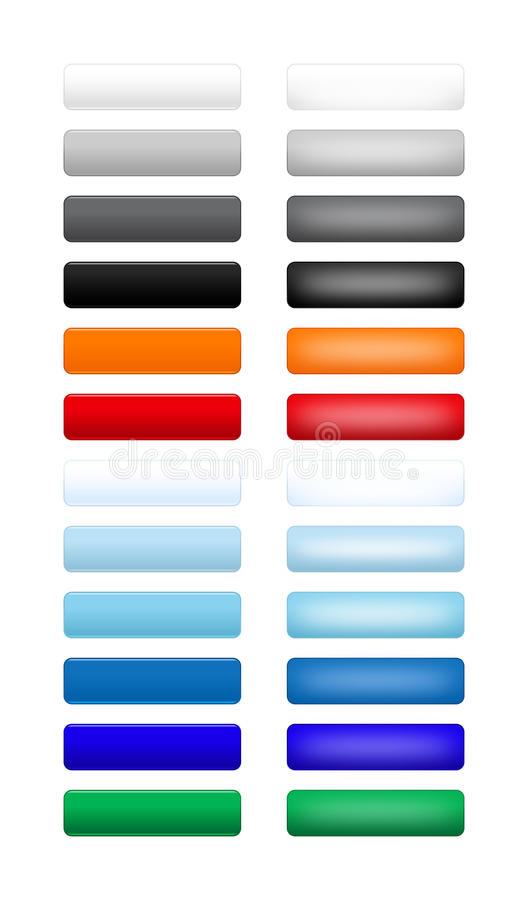 Download Touch Buttons stock vector. Illustration of green, black - 13539465