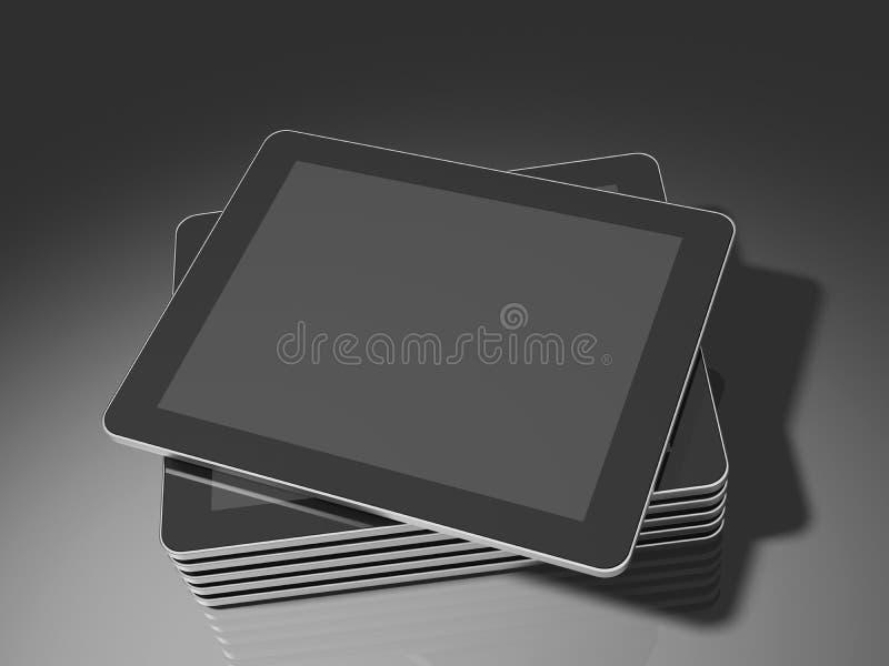 touch för tablet för datorpanel PC staplad vektor illustrationer