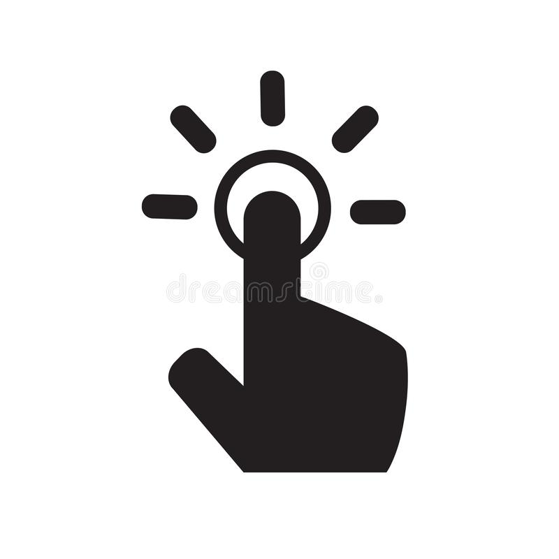 Touch gesture icon. hand icon. touch screen cursor icon. one click vector illustration