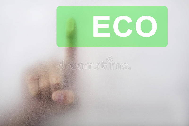 Download Touch The Green Eco Button Royalty Free Stock Photo - Image: 17035275