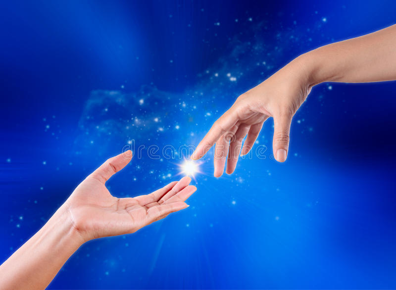 Touch Hands stock photo. Image of concept, care, body ...
