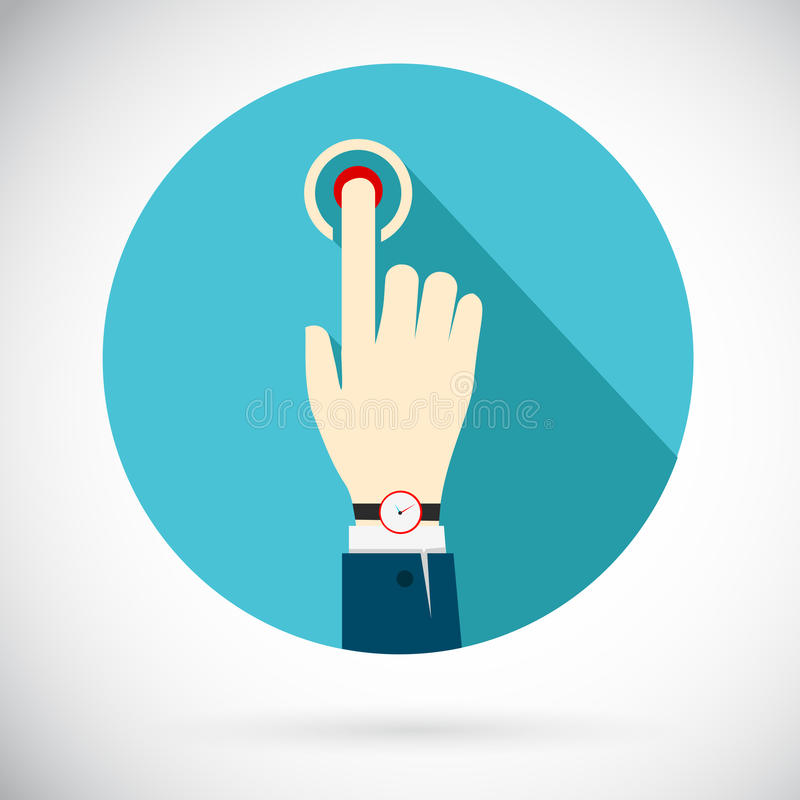 Touch icon royalty free illustration