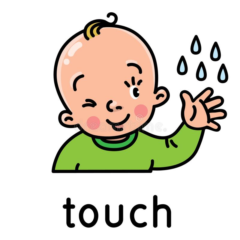 Touch. Icon of one of five senses stock illustration