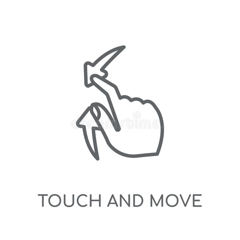 Touch Interface Gestures Outline Stock Vector - Illustration
