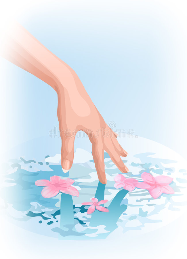 Download Touch of nature stock illustration. Image of water, hand - 618819