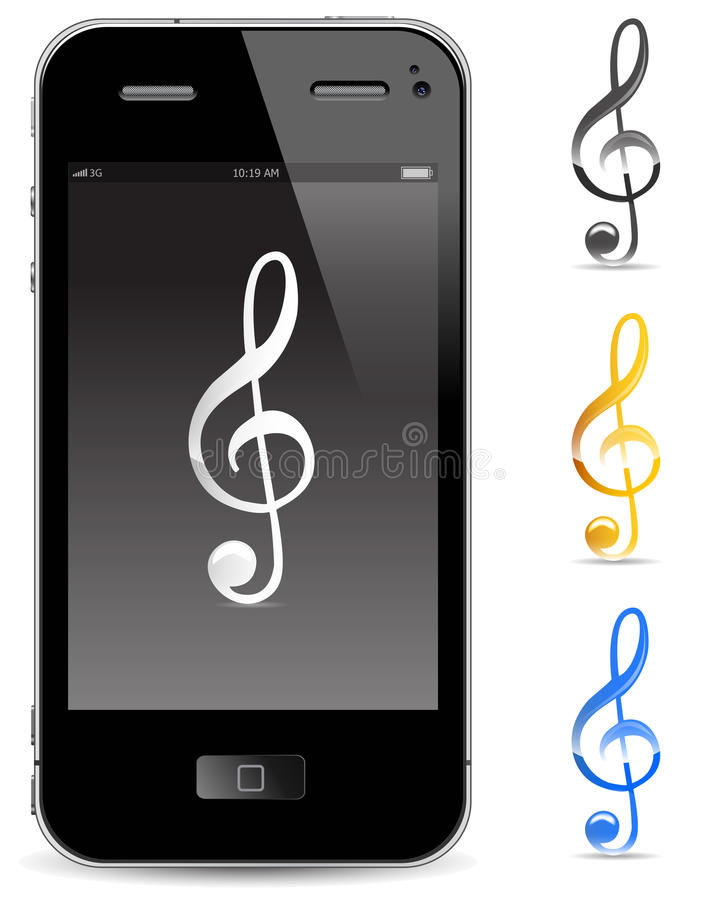 Download Touch phone stock vector. Image of display, closeup, illustration - 20925245