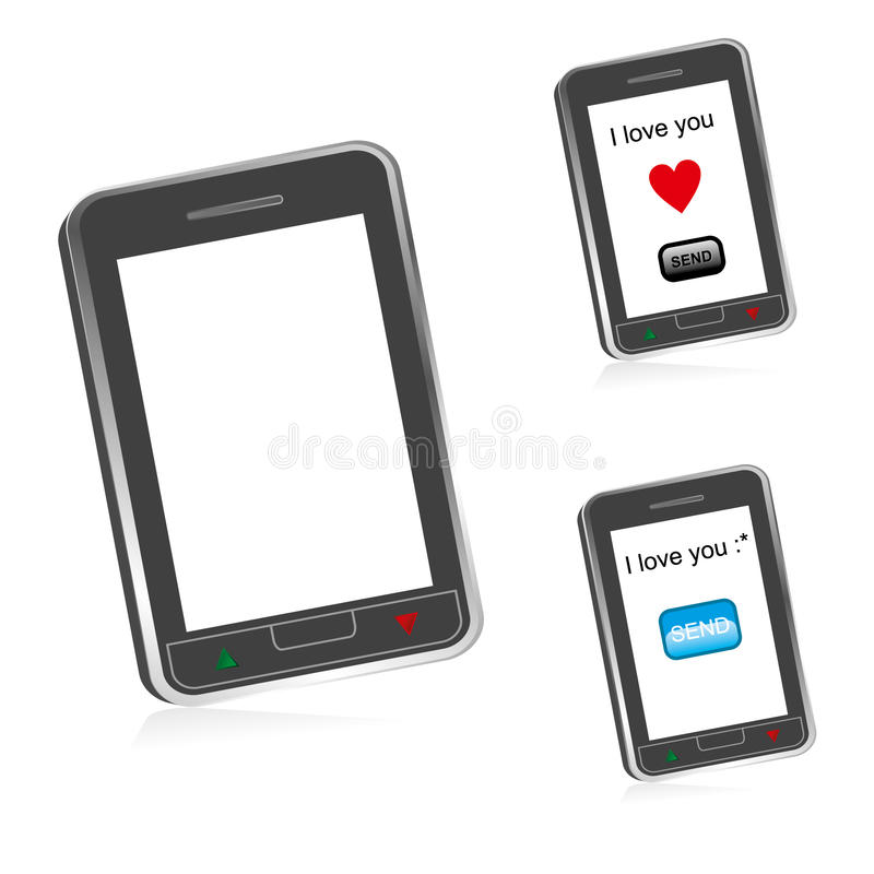 Download Touch screen cell phone stock vector. Image of button - 18365236