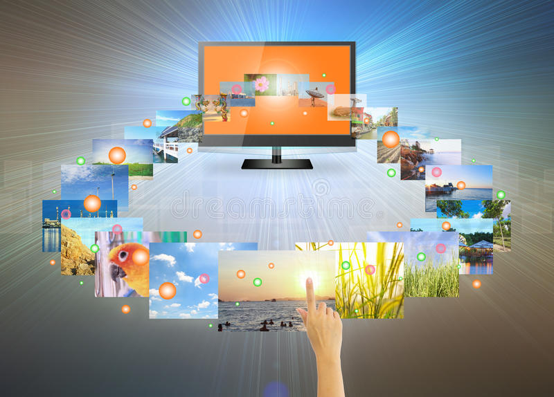 Touch screen royalty free illustration