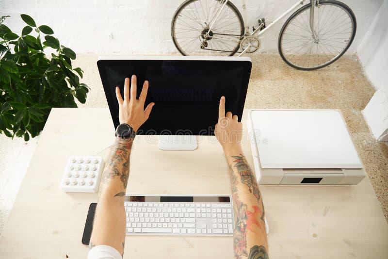 Touch Screen Darstellungsschnittstellensatz lizenzfreies stockfoto