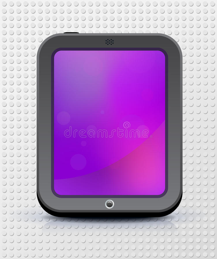 Download Touch screen device stock vector. Image of mobile, gadget - 23465941