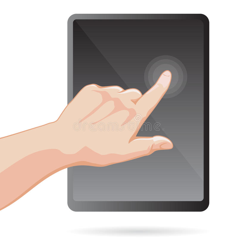 Touch Screen Device Macro Stock Images