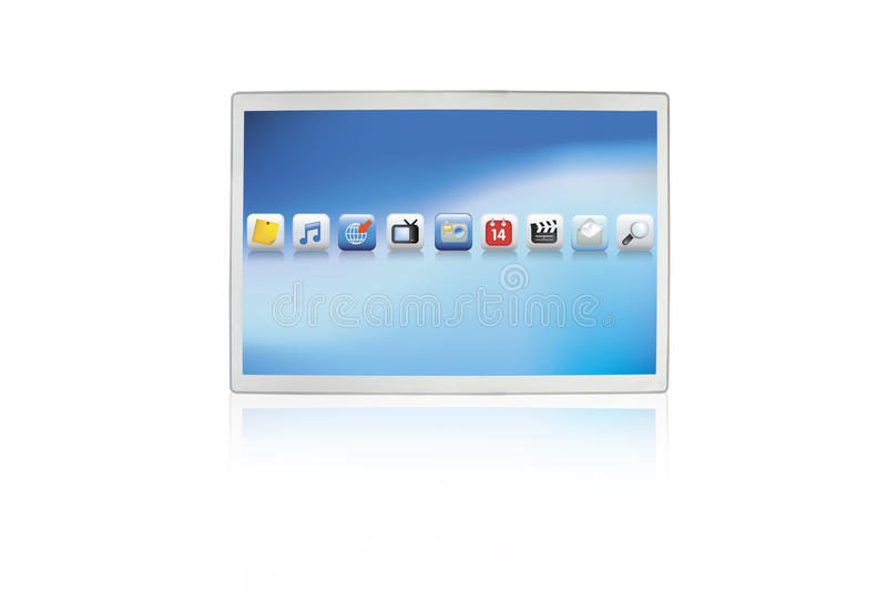 Download Touch Screen Futuristic Computer Pad Royalty Free Stock Photos - Image: 13227618