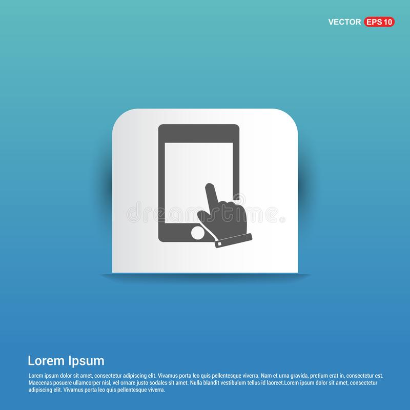 Touch Screen Icon - Blue Sticker button. This Vector EPS 10 illustration is best for print media, web design, application design user interface and vector illustration