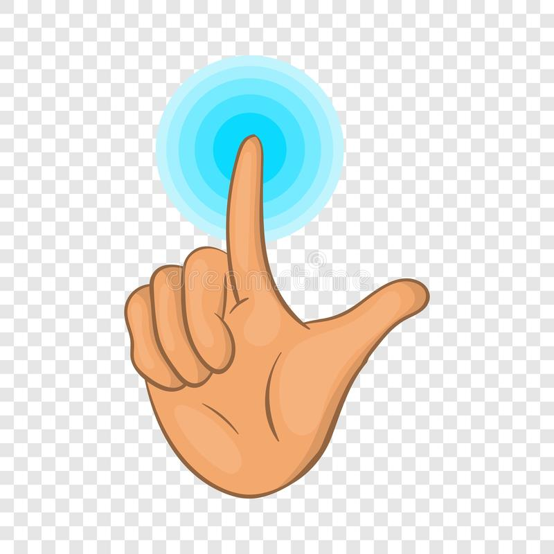 Touch screen icon, cartoon style. Touch screen icon. Cartoon illustration of screen vector icon for web design royalty free illustration