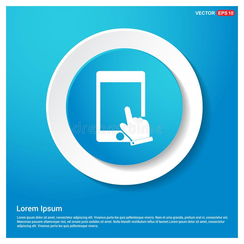 Touch Screen Icon. This Vector EPS 10 illustration is best for print media, web design, application design user interface and infographics with well composed stock illustration