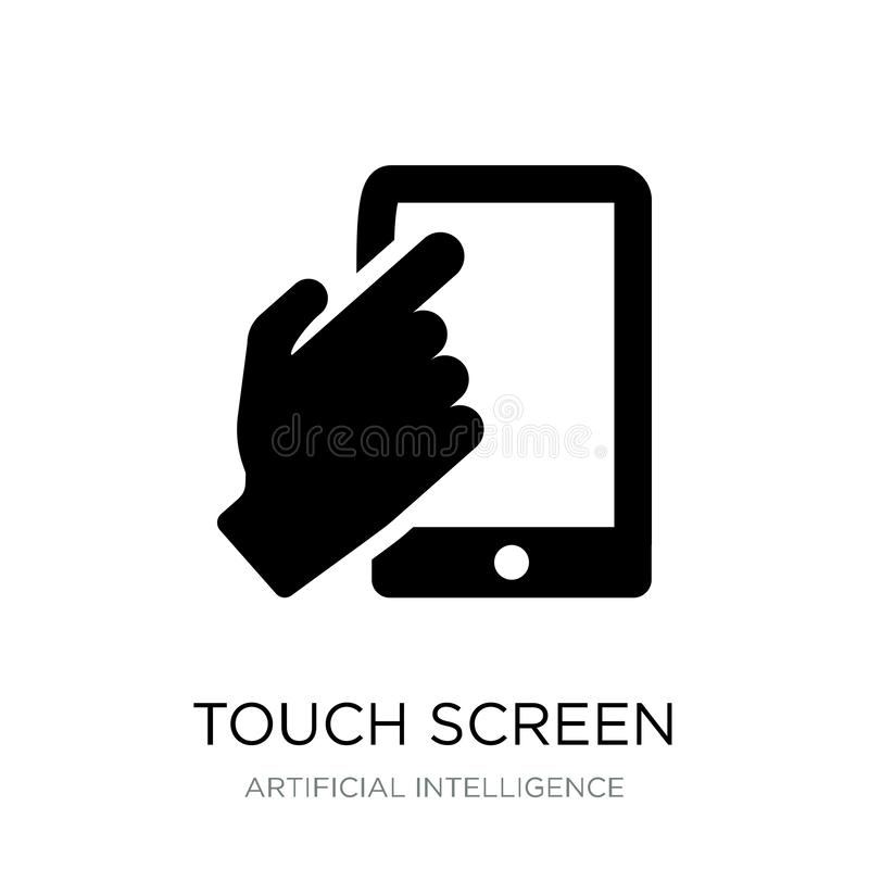 Touch screen icon in trendy design style. touch screen icon isolated on white background. touch screen vector icon simple and. Modern flat symbol for web site stock illustration