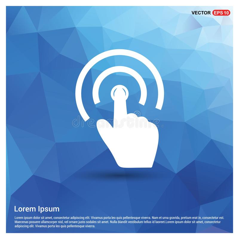 Touch Screen Icon. This Vector EPS 10 illustration is best for print media, web design, application design user interface and infographics with well composed vector illustration