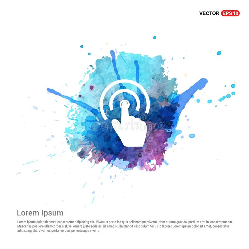Touch Screen Icon - Watercolor Background. This Vector EPS 10 illustration is best for print media, web design, application design user interface and vector illustration