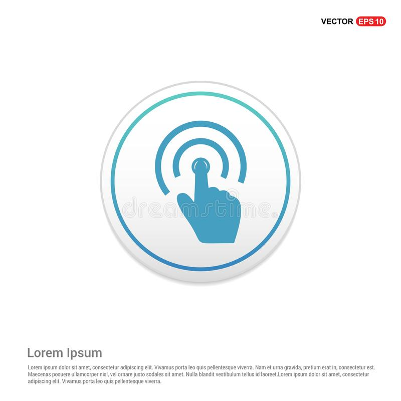 Touch Screen Icon - white circle button. This Vector EPS 10 illustration is best for print media, web design, application design user interface and royalty free illustration