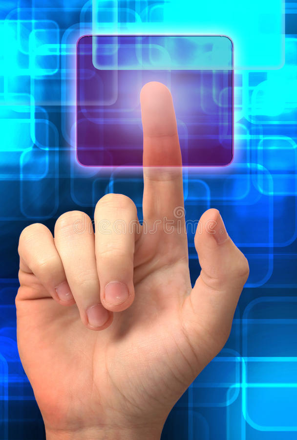 Download Touch screen interface stock image. Image of button, business - 28971361