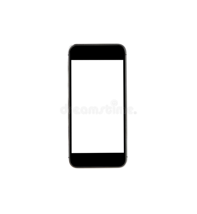 Touch screen mobile phone on white background. Touch screen mobile phone on white stock photos