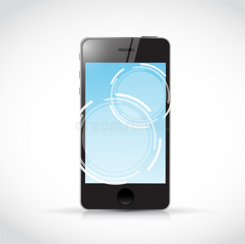 Download Touch Screen Phone And Illustration Design Stock Illustration - Illustration of technology, circles: 39509094