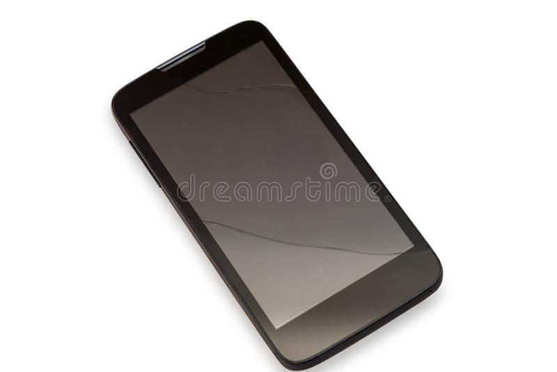 Touch screen rotto dello Smart Phone moderno fotografie stock