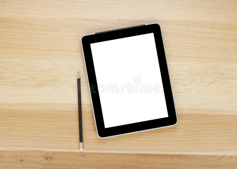 Download Touch Screen Tablet Computer With Blank Screen And Pencil Stock Photo - Image: 28903790