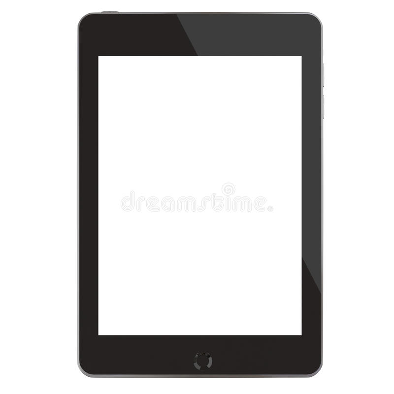 Touch screen tablet computer (3D render). stock illustration