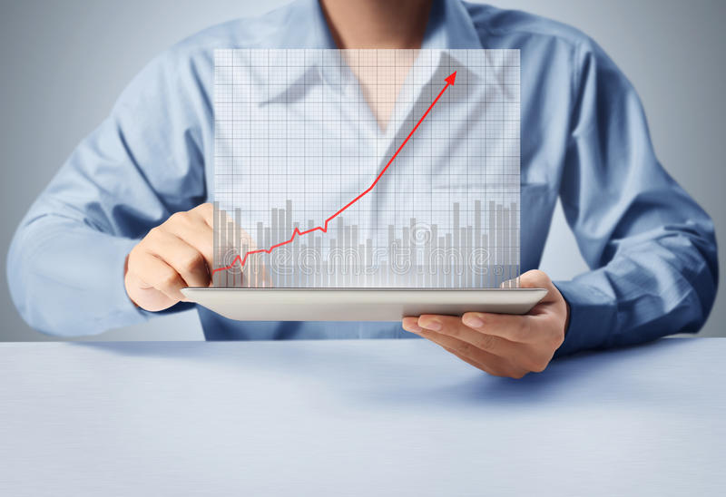 Touch screen tablet with a graph