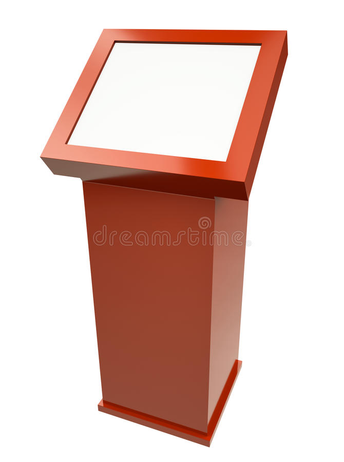 Touch screen terminal vector illustration