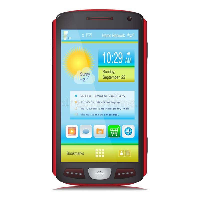 Touch Screen tragbares Gerät. Vektor lizenzfreie abbildung