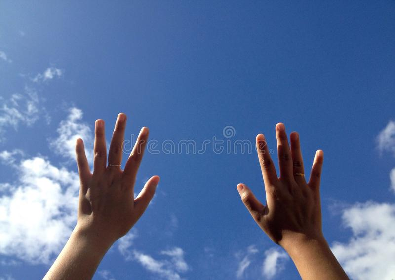 Touch the sky stock photography