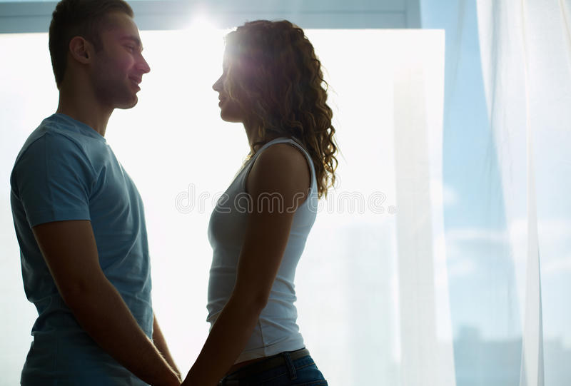 Download Touch of the sun stock image. Image of girl, lover, people - 33212515
