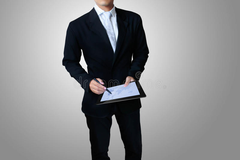 Touch tablet concept royalty free stock image