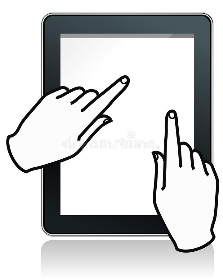 Download Touch Tablet  With Hands Stock Image - Image: 18921371