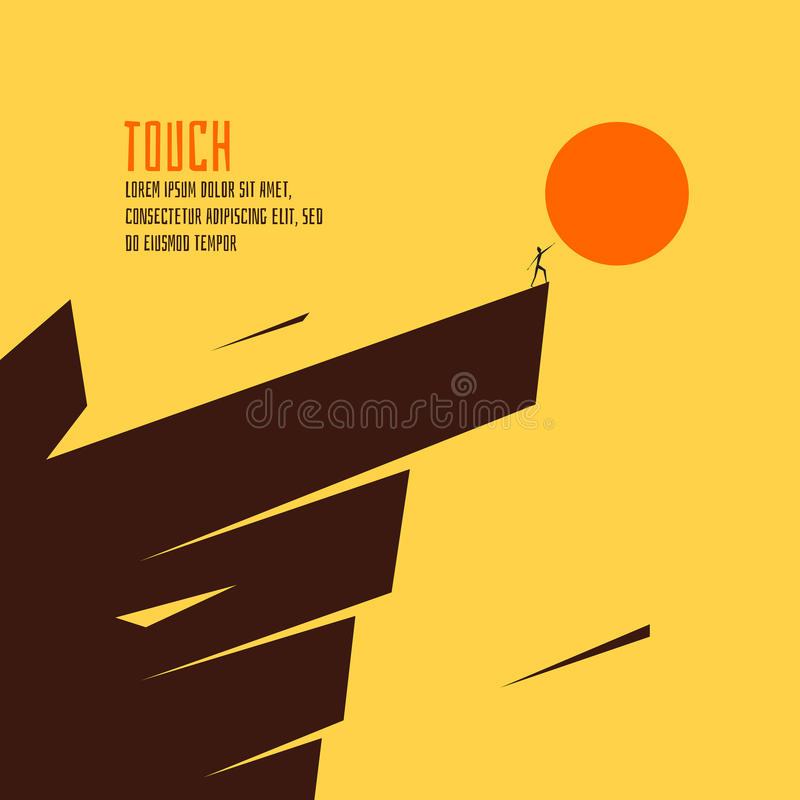 Free Touch The Sun Vector Illustration Royalty Free Stock Images - 64828379