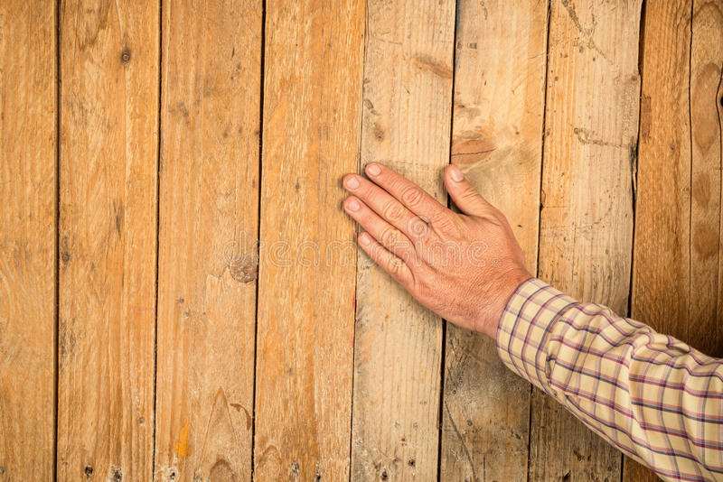 Touch wood stock images