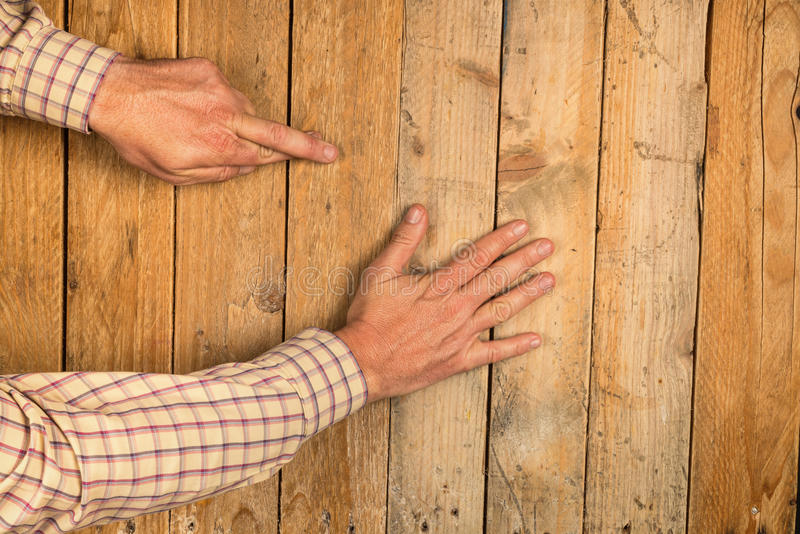 Touch wood royalty free stock photography