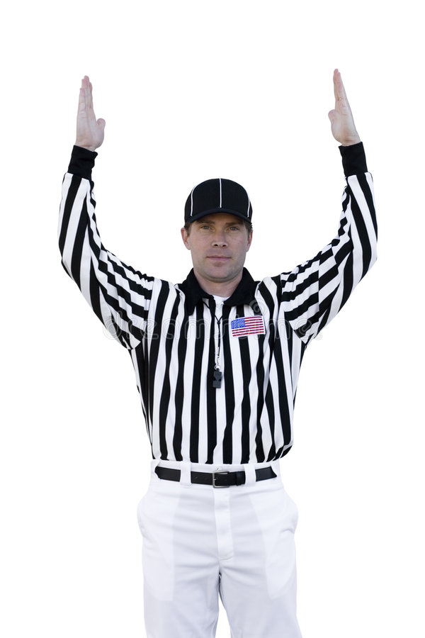 Referee football official signals a touchdown stock photo image - Touchdown Referee Royalty Free Stock Images Image 7113379