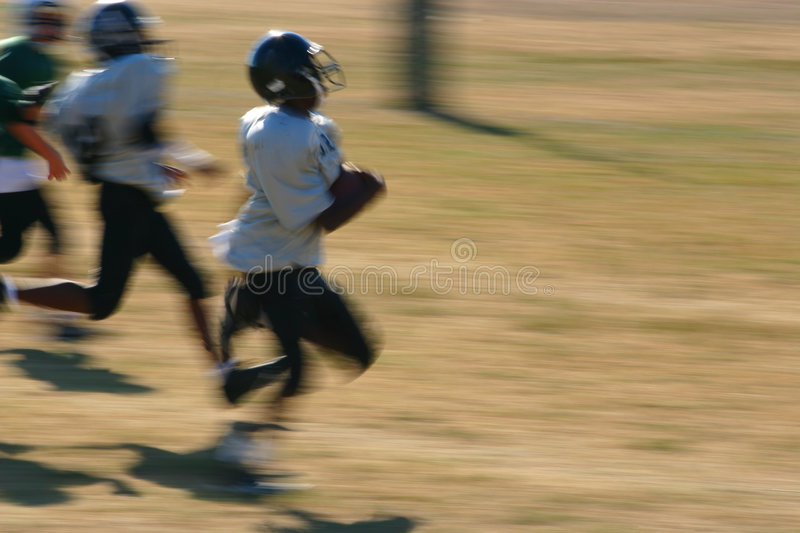 Touchdown run royalty free stock photography