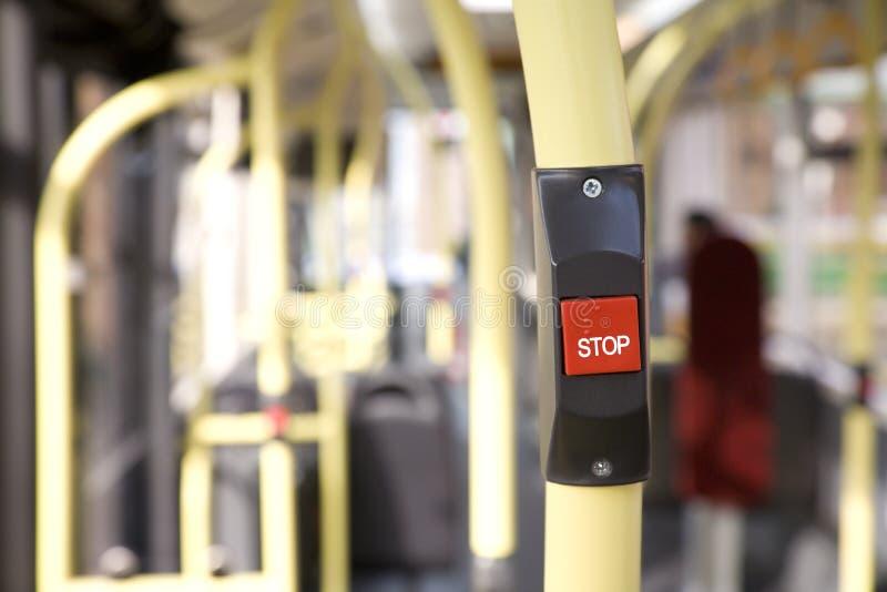 Touche 'ARRÊT' de bus photos libres de droits