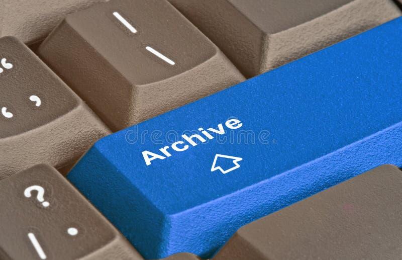 Touche directe pour l'archivage images libres de droits