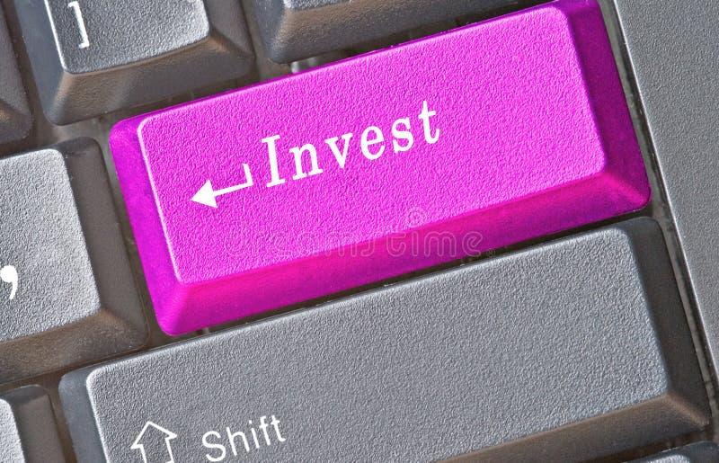Touche directe pour l'investissement photographie stock