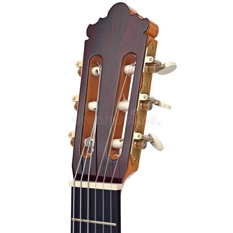 Touche en bois de poupée de guitare, vue étroite illustration stock