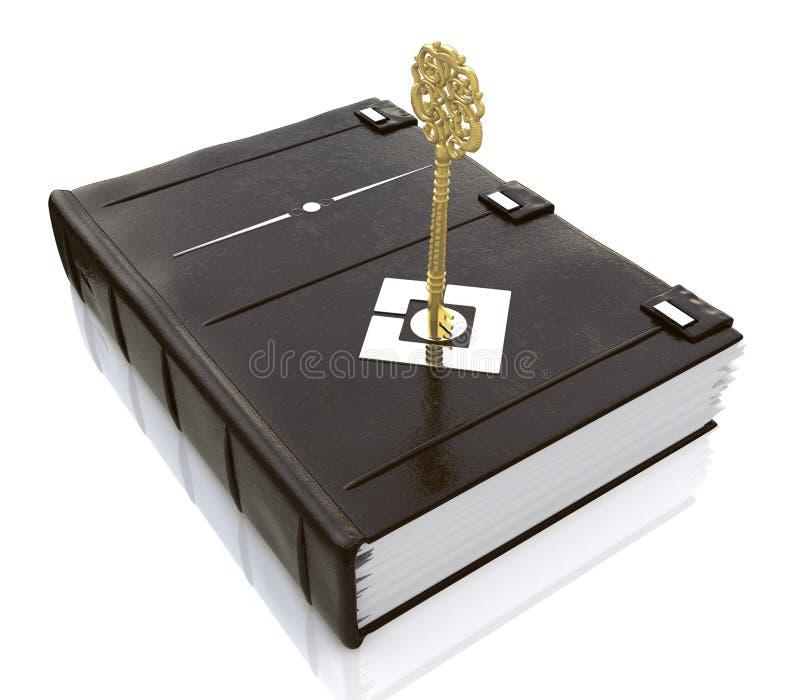 Dans le livre de la touche fonctions étendues illustration libre de droits